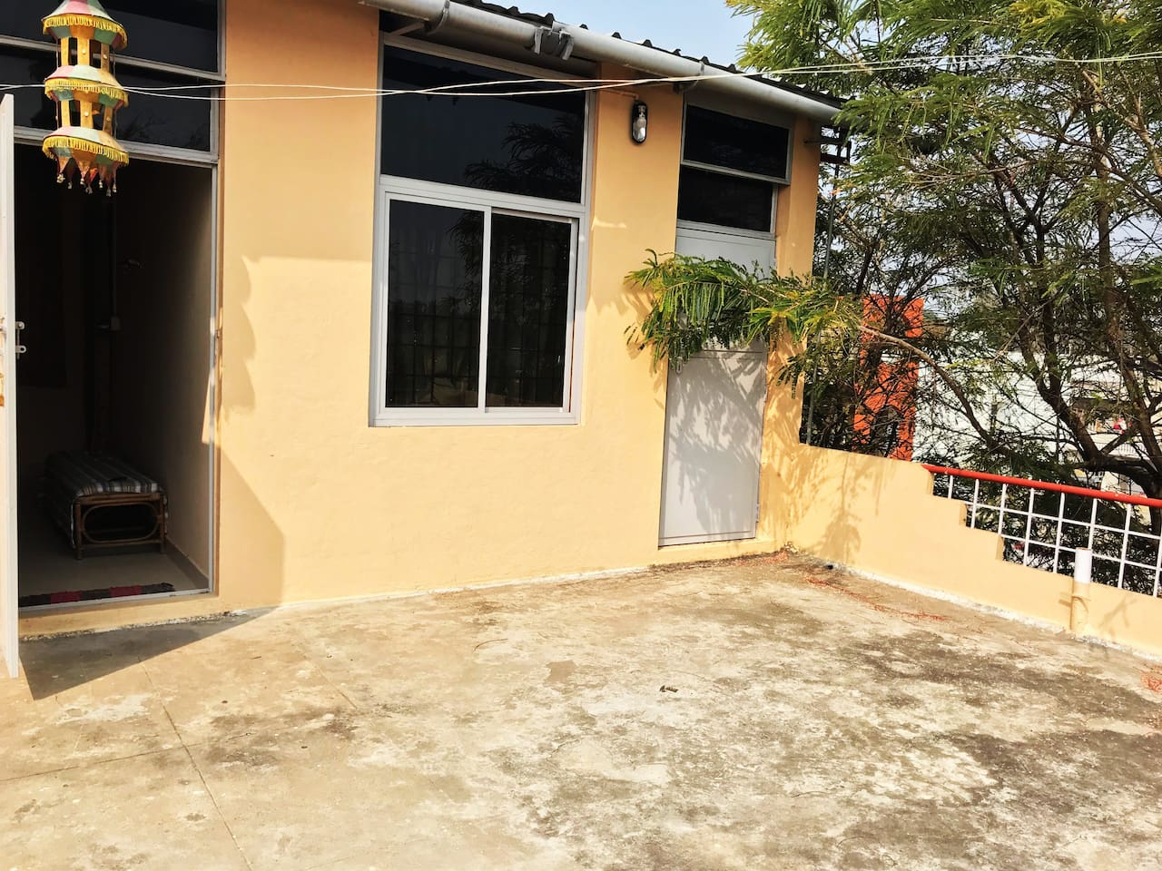 spacious sit out with beautiful hillview