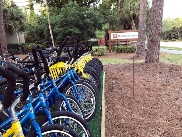 Bike rentals available across the street - or have them delivered!