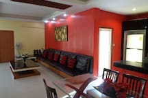 Large Open Plan Lounge and Kitchen