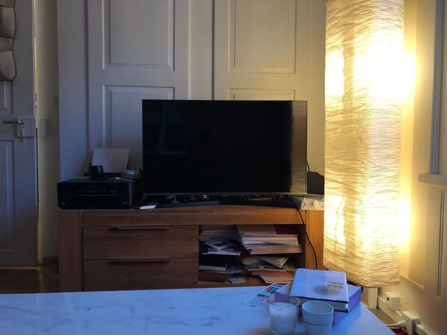 Large and flat HD TV