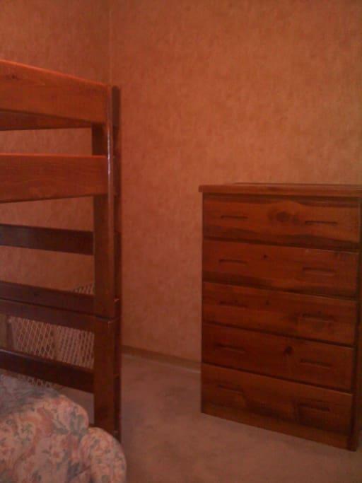 Room has a 4 drawer dresser too!