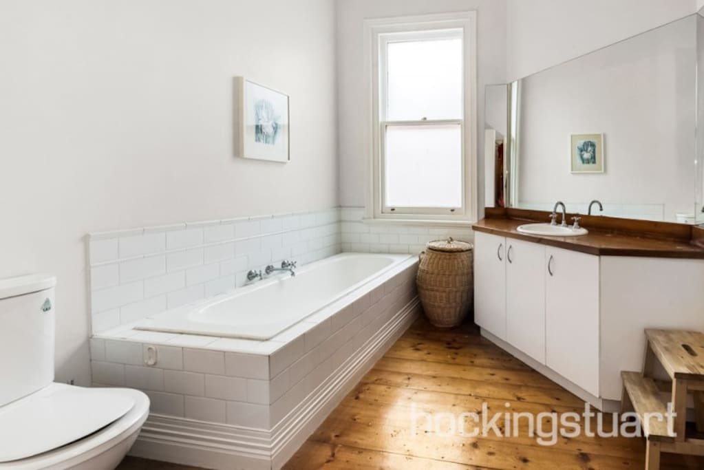 Family Bathroom with walk-in shower and bath tub