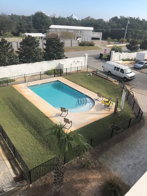 OUR VIEW OF THE COMMUNITY POOL