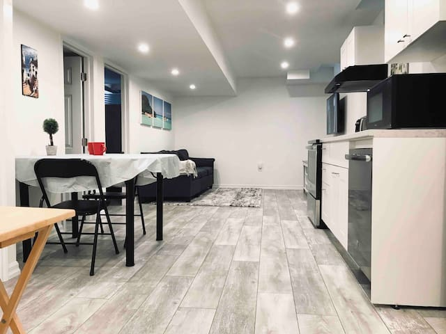 Cozy newly built 1 bedroom basement apartment