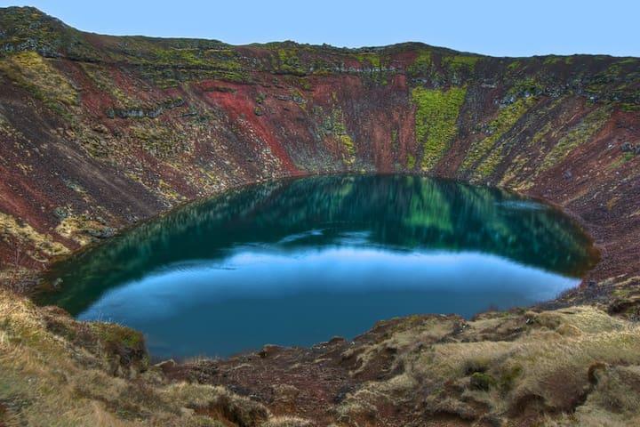 30 Kerið crater, just km away