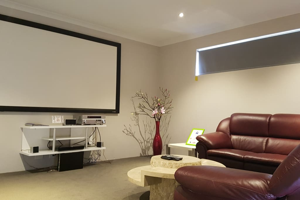Our luxury Cinema Room setting, great Evening Entertainment!