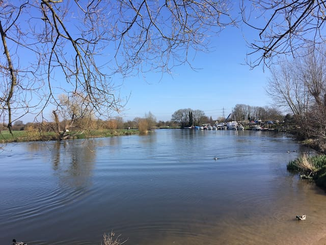 Cosy room by the river in Chertsey - Surrey - Lägenhet