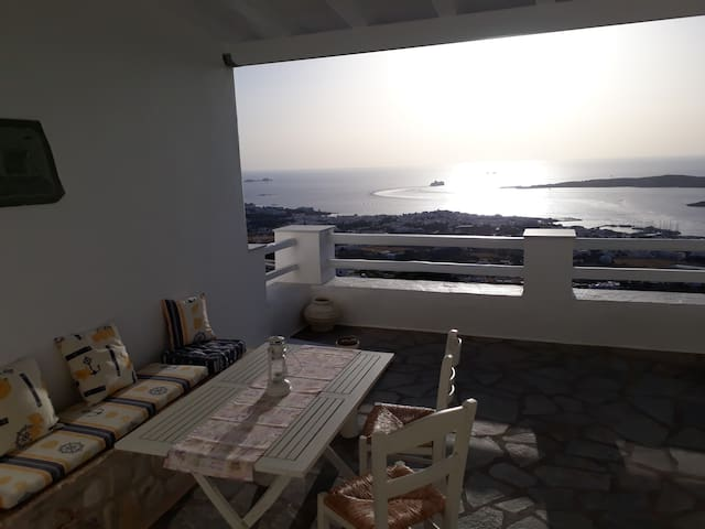 spacious and comfortable sea view terrace