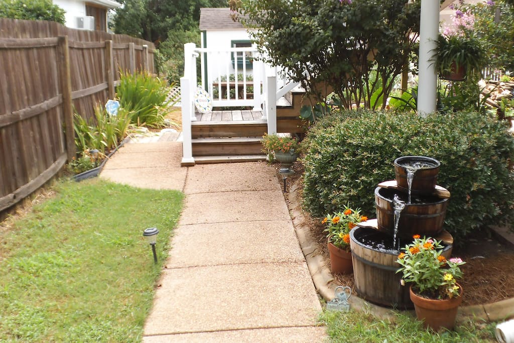 Your Private Entrance Through our Garden.