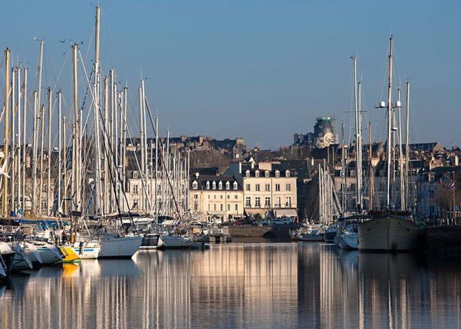 Centre historique, port, marché, commerces. - Vannes - Apartamento