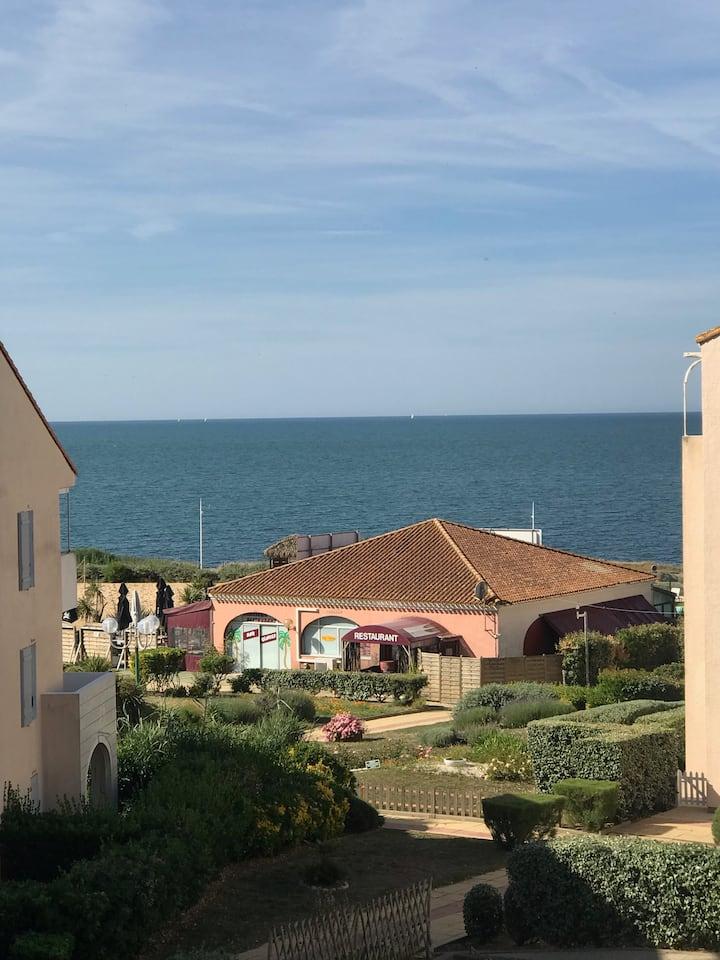 Joli appartement vue mer, proche plage