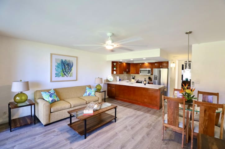 Living room , dining and kitchen area