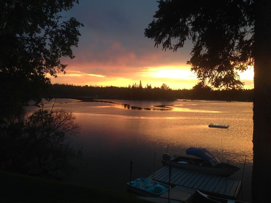 Sunset on Island Lake