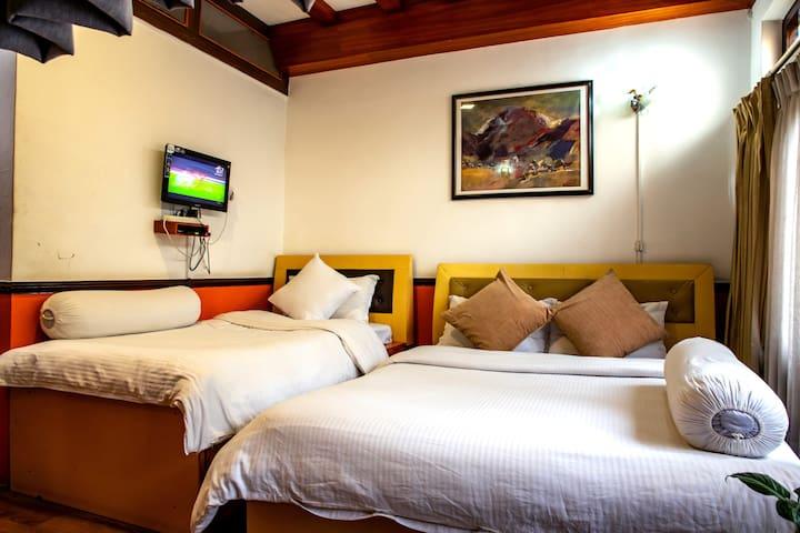3 Bed Family Room Shangri-la Boutique hotel Thamel