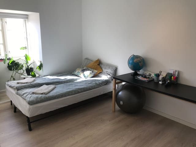 Room in new flat in city center close to station