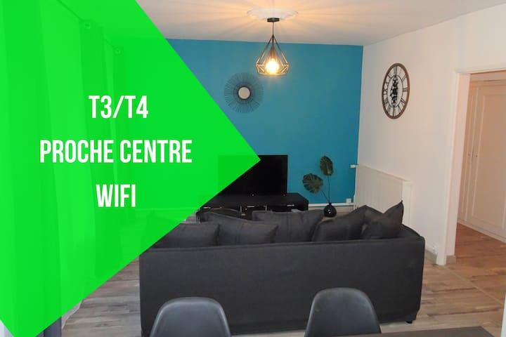 Appartement T3/T4 proche des berges du Cher