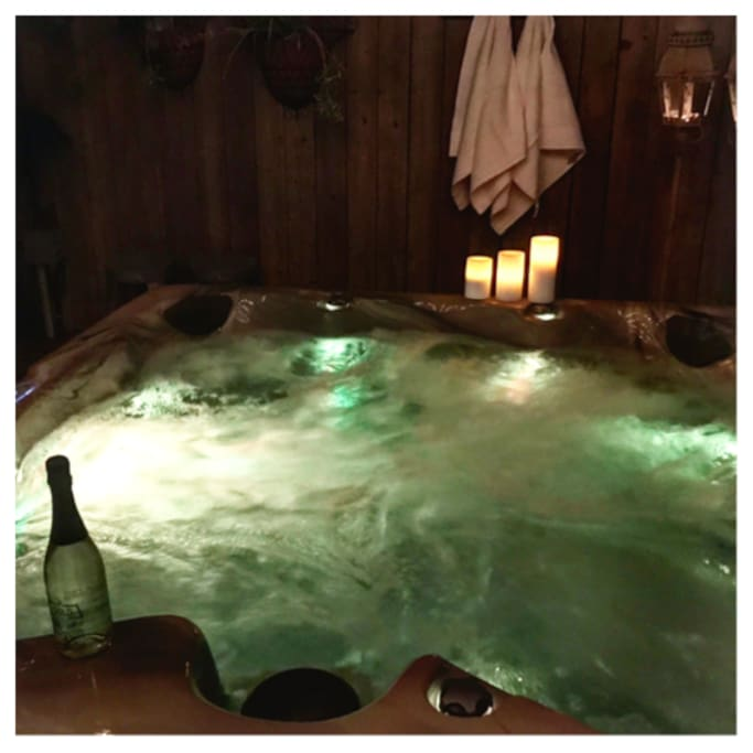 Have your date night in the hot tub!