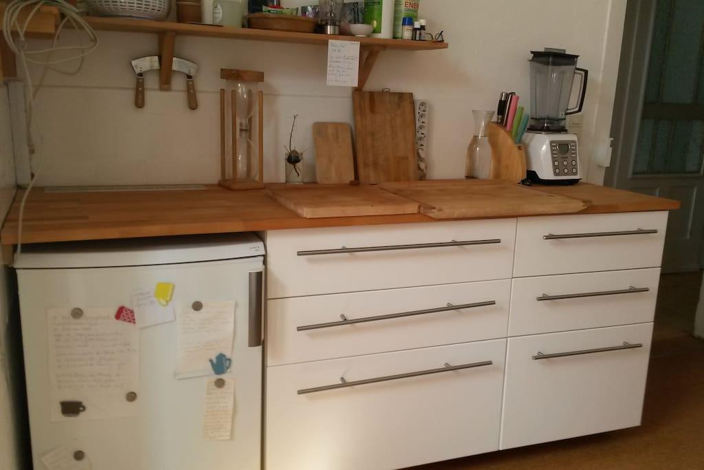 Kühlschrank, Arbeitsbereich
