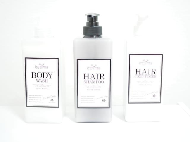 Japanese shampoo, rinse, body soap