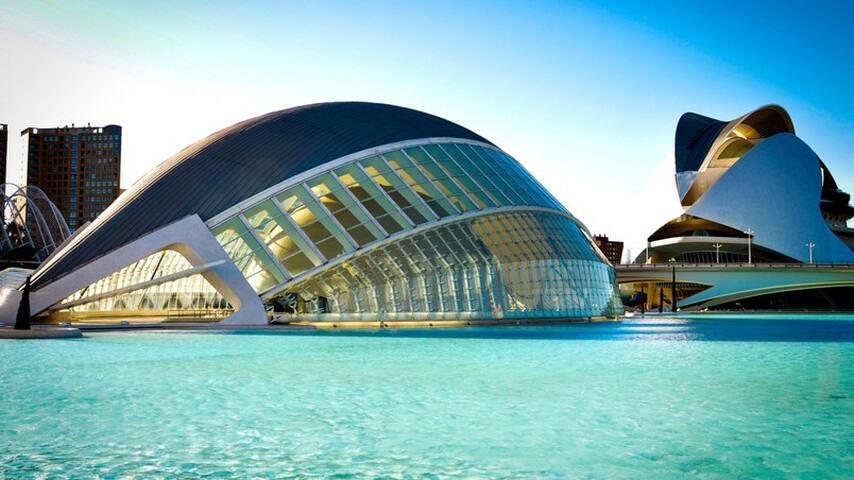 Room Ciudad de las Ciencias,Playa, Wifi, Parking - València - Apto. en complejo residencial