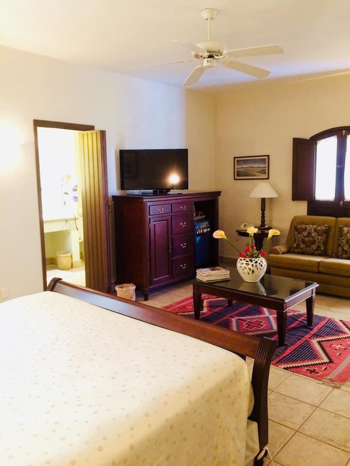 Suite W LivingRoom + Concierge on Top Class Hotel