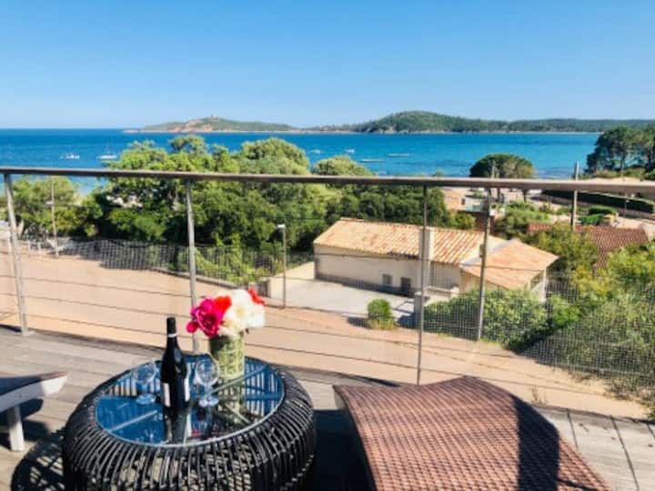 Villa 4* standing vue mer avec spa,50m de la plage