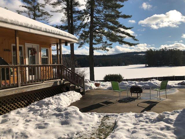 WHITE MTNS WINTER LAKE PARADISE/SKI/HIKE/SNOWMOBIL