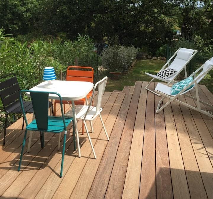 Maisonnette Ramatuelle, terrasse, piscine, parking