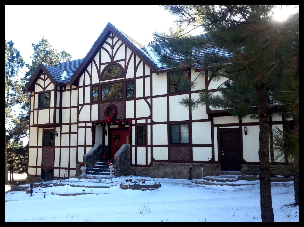 The Forest Manor is nestled in the pine forest north of Colorado Springs.