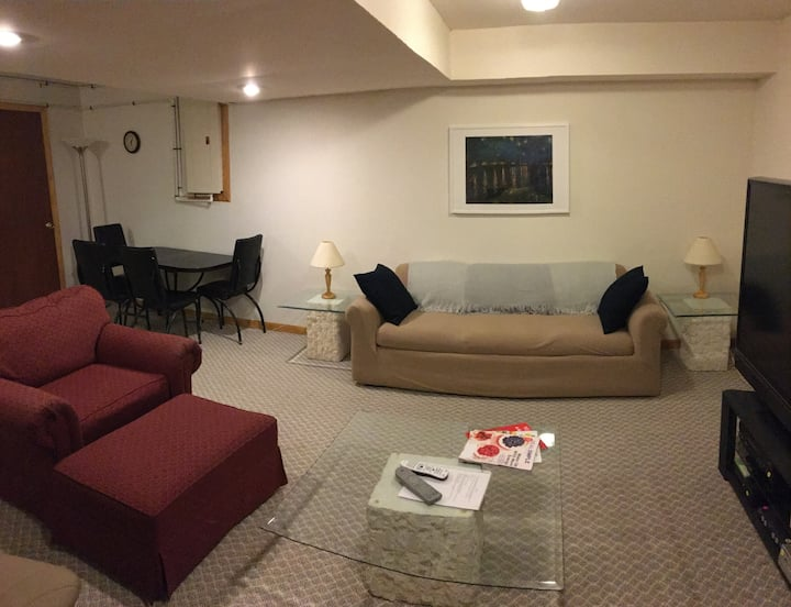 Group/Family Basement Apartment Getaway! 2 Bedroom