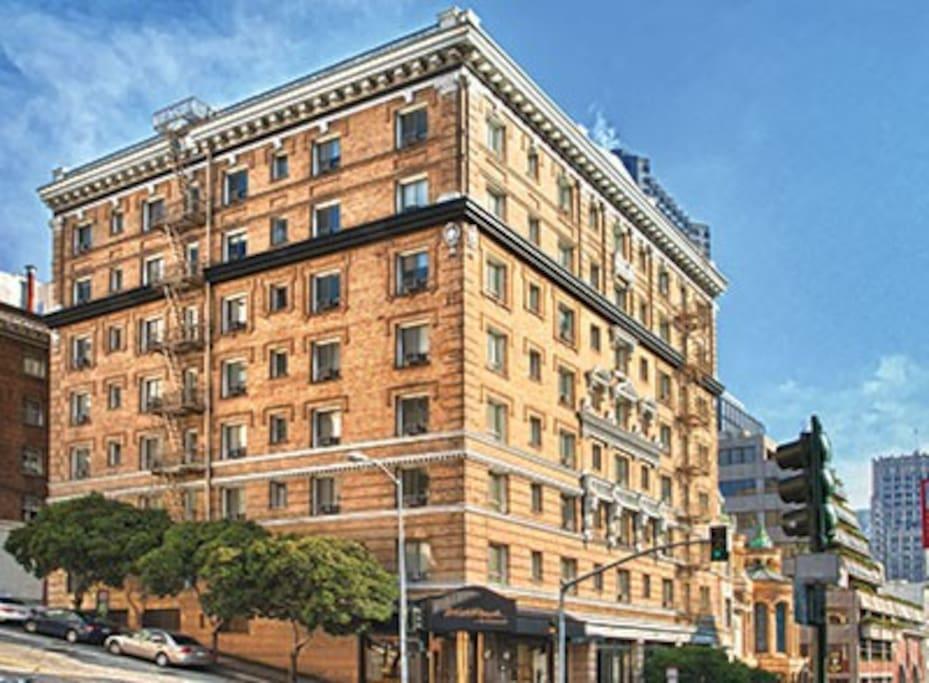 Nob hill studio condo appartements en r sidence louer san francisco ca - Appartement a louer san francisco ...