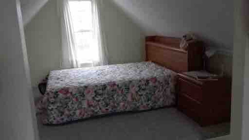 Double/full bed upstairs