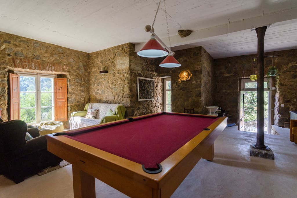 Pool Table in Living / Game Room