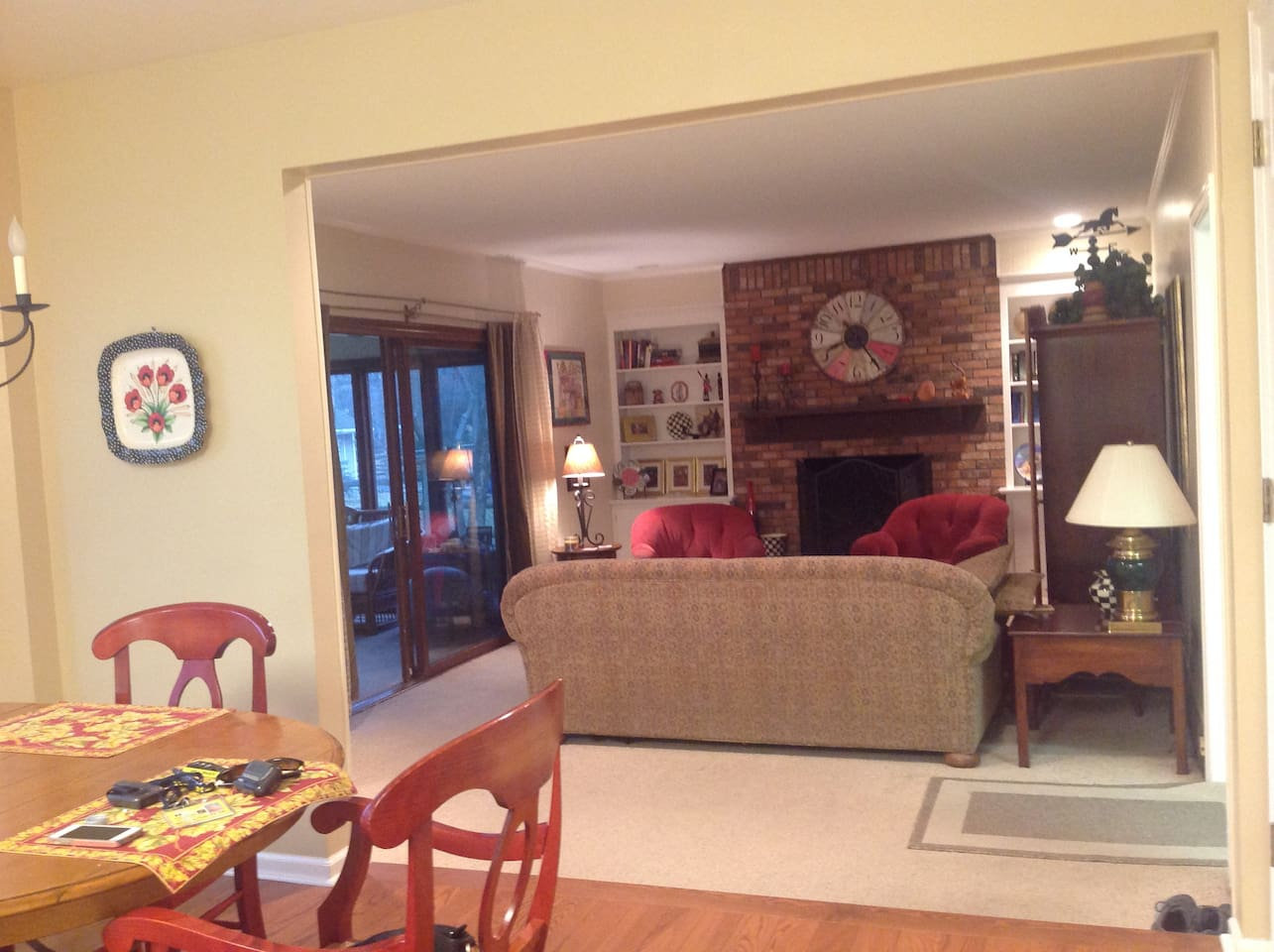 Family room, shared space