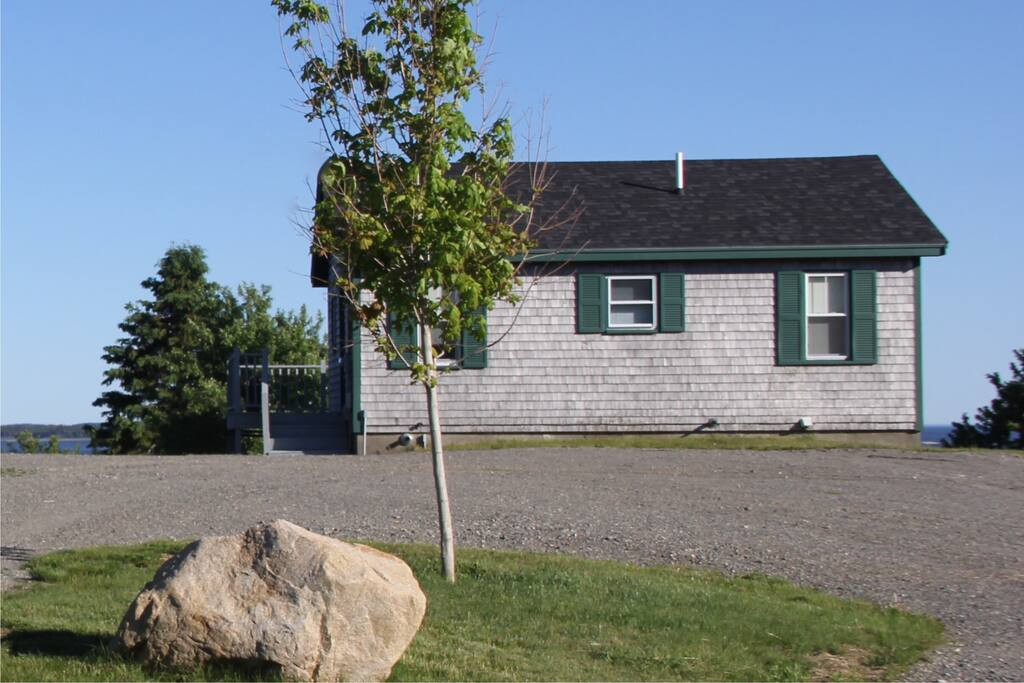 View of cottage from the road side (cottage is set back 400 feet from road)