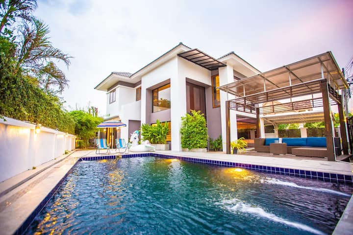 JHOUSE/Luxury Pool Villa/泳池别墅/ 接送机