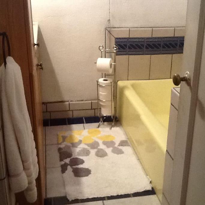 Enjoy your own private bathroom, shower or bath tub.