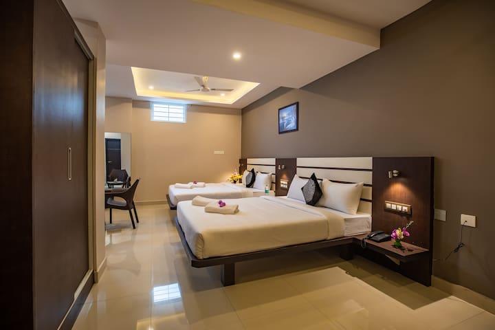 Aadya Elite Premium Quadruple Room