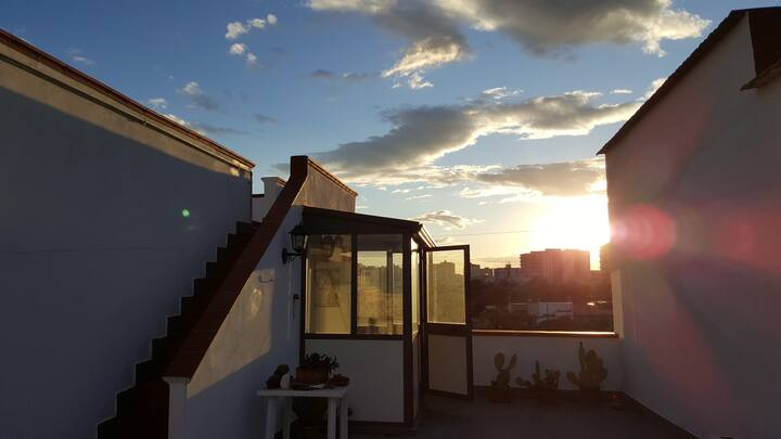 OPLONTIS roof terrace. (near Pompei and Vesuvio)