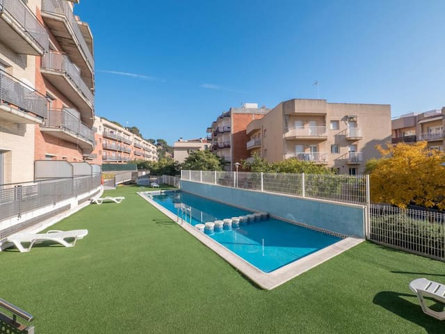 2 Private Terrace Pool Apartment in Blanes - Blanes - Pis