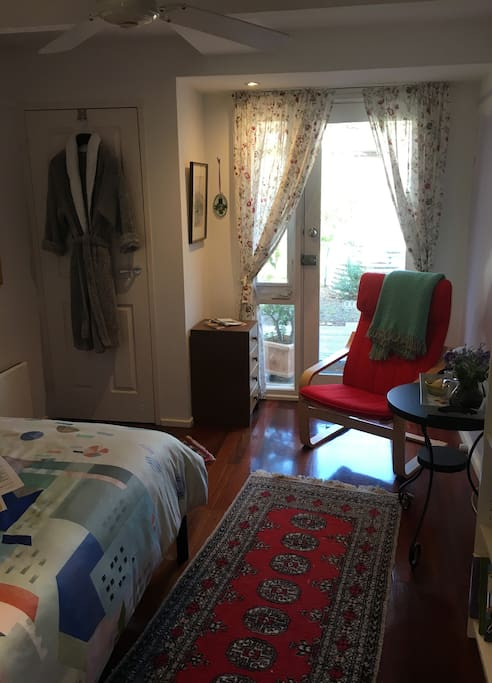 More recent photo of bedroom.