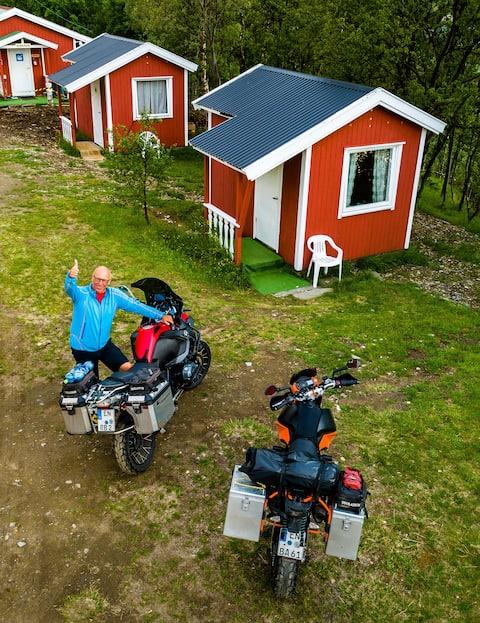 Sandnes Fjord Camping 4 Betten/ab 10 Kabinen