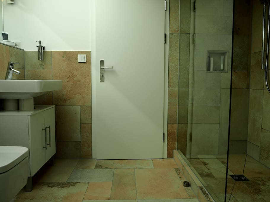 Our apartment has 2 bathrooms and this one, direct beside your room, would be yours during your stay.