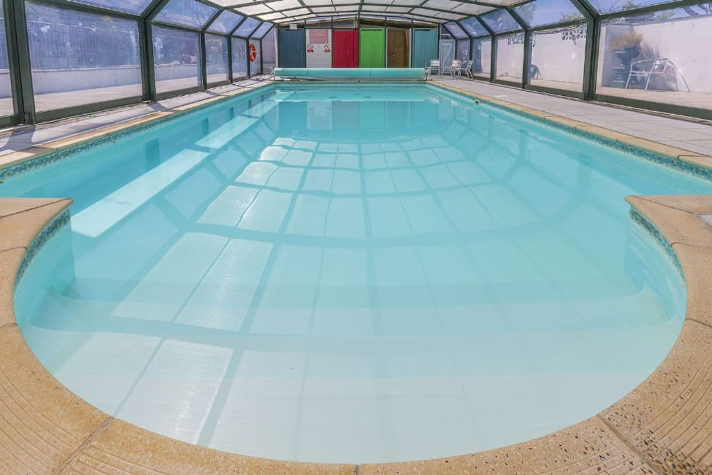 Shared heated indoor pool a few miles away