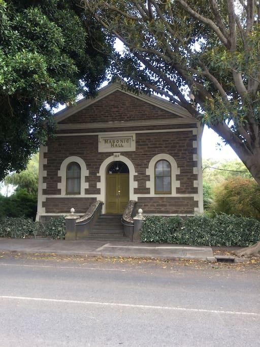 Welcome. The Angaston Masonic Lodge, entrance