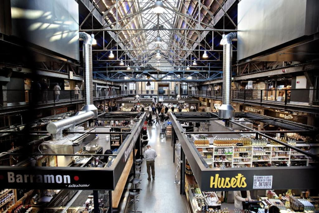 Mathallen, ett godt valg om du vil ha noen mat inspirasjoner eller bare drikke Oslos beste kaffe på Solberg & Hansen