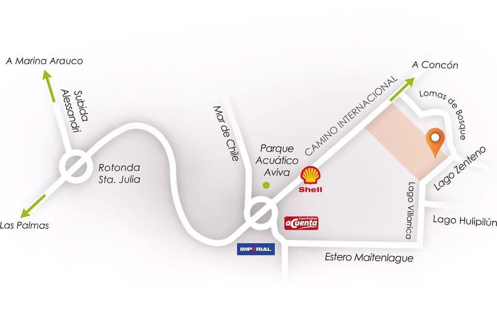 Mapa referencial de la ubicación