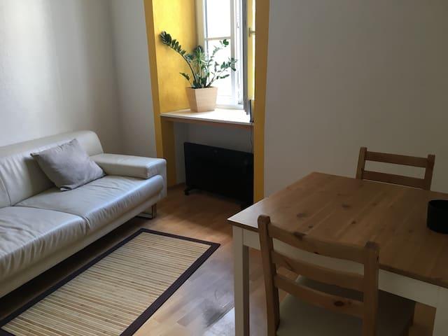 Small functional flat near center