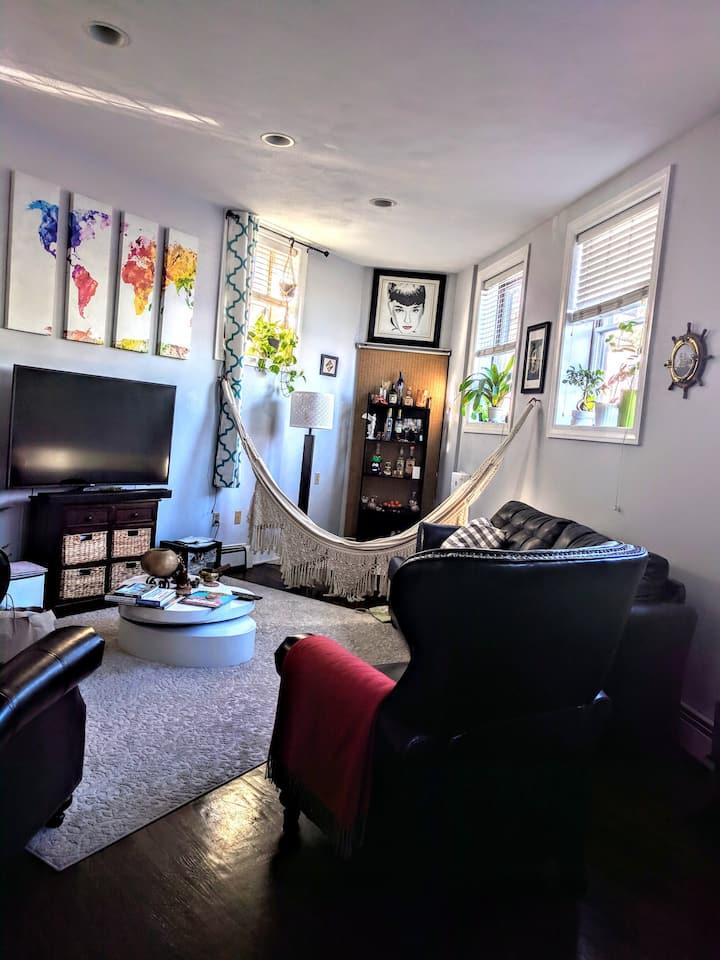 Downstairs Room in Stunning NorthEnd Loft