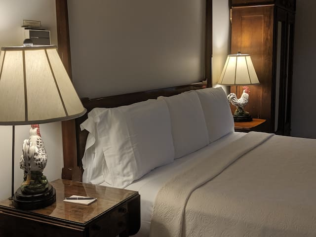 Refined King Bed accommodations....